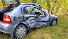 Gmina Sztabin. Zderzenie dwóch samochodów i wypadek z udziałem łosia