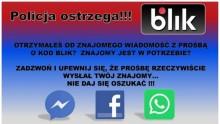 Oszustwa na BLIK-a. Uważajmy na Facebooku