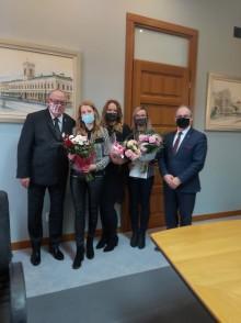 Asystentki rodziny z Suwałk z wyróżnieniami minister Rodziny, Pracy i Polityki Społecznej