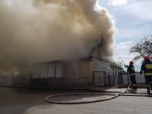 Pożar domu przy ul. Rajgrodzkiej w Augustowie [zdjęcia]