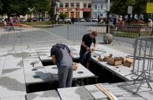 Fontanna na Placu Marii Konopnickiej doczekała się naprawy