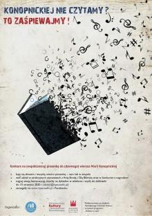Konkurs na autorską piosenkę do wiersza Marii Konopnickiej