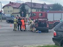 Wypadek na ul. Waryńskiego w Suwałkach. Jedna osoba ranna [zdjęcia]