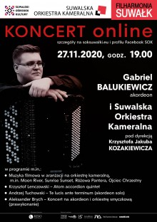 Koncert Gabriela Balukiewicza ON LINE