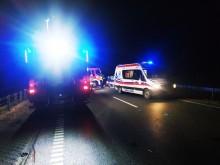 Wypadek w Janówce. Dwie osoby trafiły do szpitala