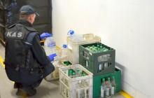 Celnicy w walce z koronawirusem. Przekazali ponad 264 litry alkoholu do sanepidu w Białymstoku
