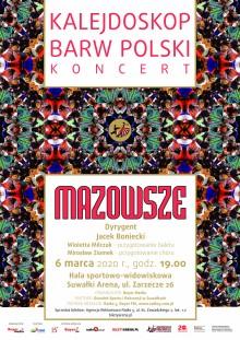 Kalejdoskop Barw Polski. Koncert zespołu Mazowsze w Suwałkach