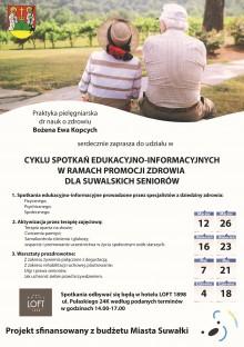 Cykl spotkań edukacyjno-informacyjnych dla seniorów w Hotelu LOFT