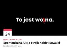 Strajk Kobiet także w Suwałkach. W sobotę o 15.00 w Parku Konstytucji