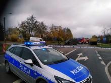 Wypadek na ulicy Mazurskiej w Augustowie
