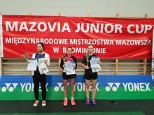 Badminton. Złoto i dwa razy brąz Oli Wilczewskiej w Mazovia Junior Cup [foto]