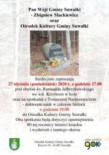 Upamiętnienie ks. Jałbrzykowskiego w Krzywem