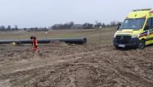 Zwłoki mężczyzny na terenie budowy gazociągu koło Raczek