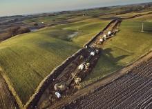 Gazociąg Polska-Litwa. Na Litwie zakończono pierwszy etap budowy, w Raczkach protestują rolnicy