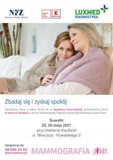 Bezpłatna mammografia w mobilnej pracowni mammograficznej LUX MED