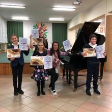 Puńsk. Pierwsze miejsce uczniów Szkoły Muzycznej w konkursie w Pradze