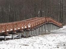 Nowy mostek między jeziorami Leszczewek i Wigry [zdjęcia]