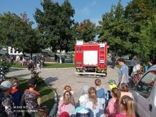 Próbna ewakuacja w Przedszkolu nr 7. Wyjące syreny zrobiły wielkie wrażenie [zdjęcia]