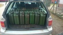Prawie 900 litrów nielegalnego paliwa koło Bań Mazurskich