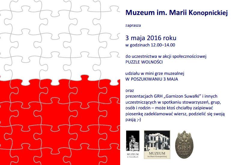Puzzle Wolności W Suwałkach Muzeum Zaprasza Do Nietypowej