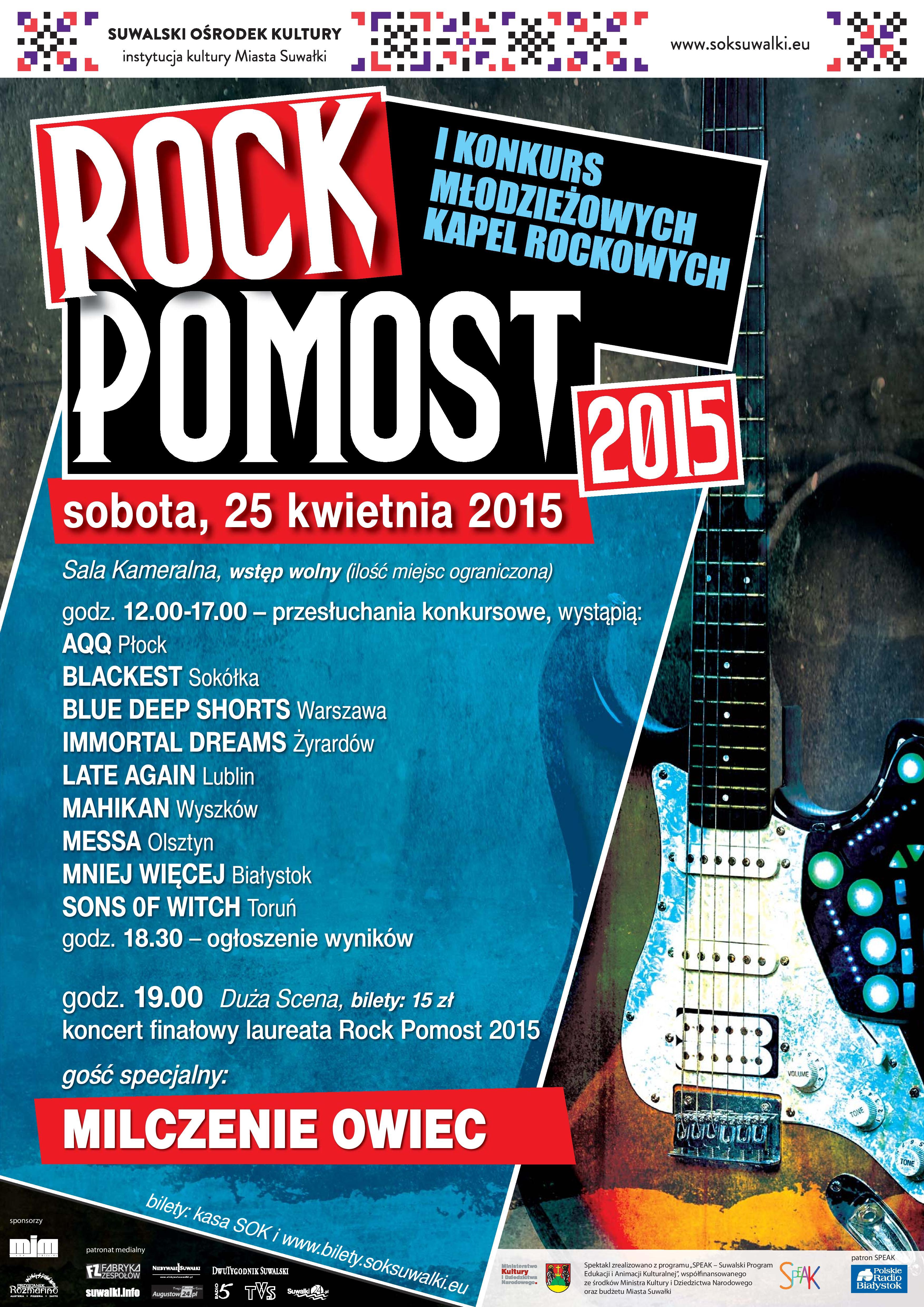 Rock Pomost 2015 Kto Najlepiej Gra Rocka Znamy Kandydatów