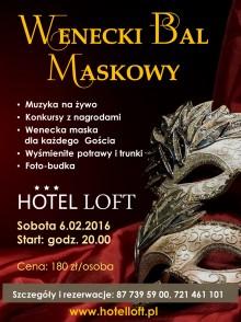 Wenecki bal maskowy w Hotelu LOFT