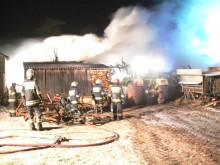 Pożar stodoły w miejscowości Jabłońskie