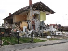 Wybuch gazu w Ełku