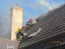 Pożar w Magdalenowie koło Suwałk [zdjęcia]