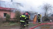 Pożar domu w miejscowości Przystajne koło Przerośli