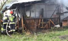 Pożar budynku gospodarczego w Wieliczkach