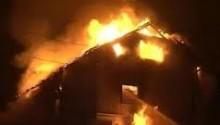 Pożar drewnianego domu w Smolnikach