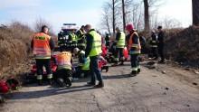 Wypadek w Kleszczówku. Rodzina musi zidentyfikować kobietę