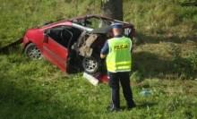 Wypadek w Jaśkach koło Olecka