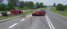 Wypadek przy wyjeździe z Suwałk