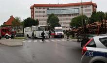 Wypadek w Olecku. Cztery osoby poszkodowane