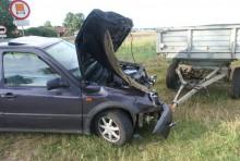 Pijana traktorzystka spowodowała wypadek