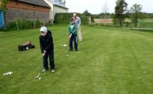 Pierwszy krok na polu golfowym