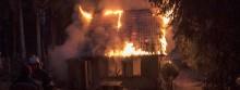 Pożar w Becejłach [fotorelacja]