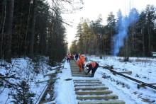 W Nadleśnictwie Hajnówka trwają prace remontowe kolejki wąskotorowej [zdjęcia]