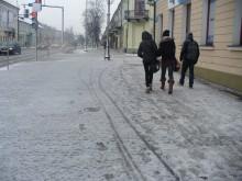 Pierwsze opady śniegu w regionie