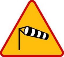Silny wiatr – ostrzeżenie o zagrożeniu II stopnia