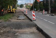 Zamknięta część ulicy Buczka