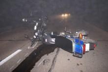 W zderzeniu motoroweru z osobówką ranny motorowerzysta