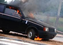 Płonęły samochody