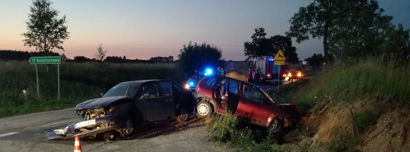 Wypadek w Rudnikach koło Raczek. Trzy osoby ciężko ranne