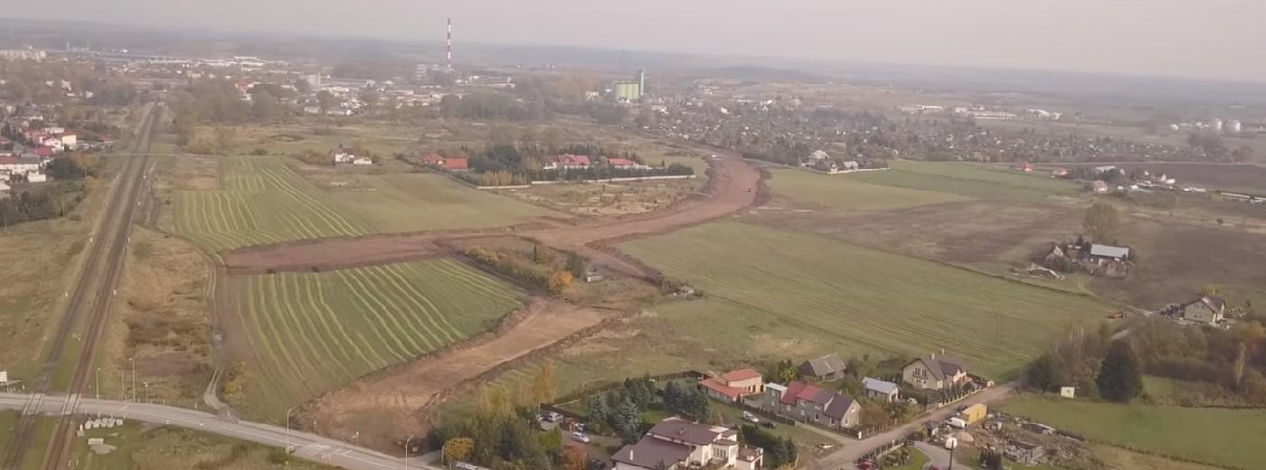 Trasa Wschodnia w Suwałkach z lotu ptaka. Widać już zarysy [wideo]