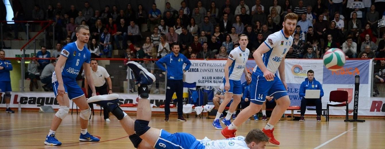 Ślepsk Suwałki wreszcie ograł Lechię Tomaszów i w ćwierćfinale play-off zagra z AGH Kraków [zdjęcia]