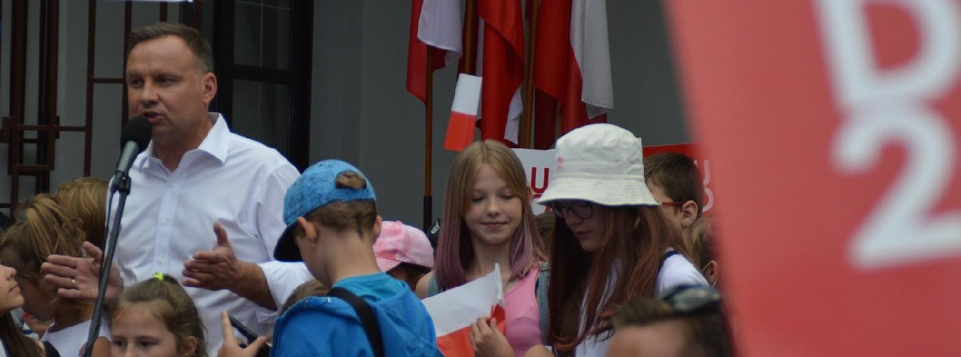 Andrzej Duda w Suwałkach. Godzina z prezydentem [wideo i zdjęcia]