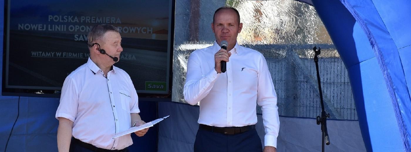 Suwałki. Firma Walmar Drażba miejscem polskiej premiery nowej linii opon SAVA 5 [wideo i zdjęcia]